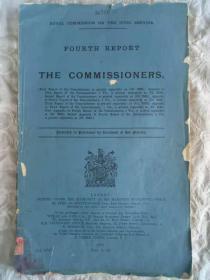 外文原版《皇家公务员委员会文件汇编》  1914年 排印 中央研究院社会科学研究所藏