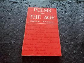 POEMS from THE AGE 英文原版书