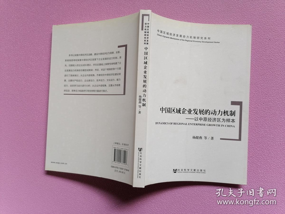 中国区域企业发展的动力机制:以中原经济区为样本