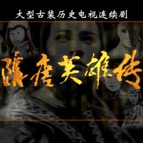 原盘电视剧隋唐英雄传黄海波版 40集全 14碟装 DVD5光盘碟片