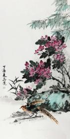 【保真】北京美协会员 清华美院高研班导师 马亮 四尺整张花鸟