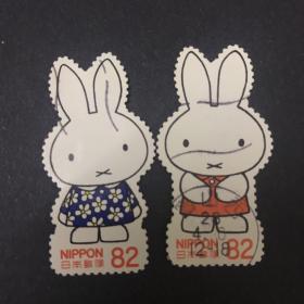 日本异形邮票 米菲兔