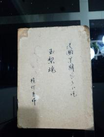 民国早期著名风月(言情)小说《玉梨魂》徐枕亚著