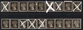 英国邮票B,1990年梅钦普票黑便士150周年20p,新,无胶,一枚价