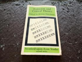 Criticism and Critical Theory 英文原版书