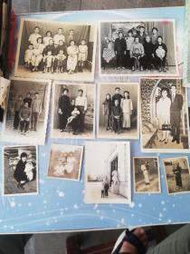 民国到70年代家庭合影照片11张