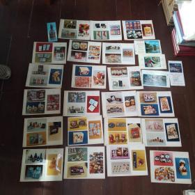 改开时期商品广告图片和照片样张 1983年9月厦门国际包装技术交流会 沈阳市第一印刷厂技术资料文献45张原稿实图片每张内含3至4张图片不等