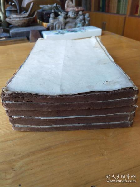 《百子金丹》,明朝万历年间木刻板,存前半部文编、武编和内编上函,五卷六册全。 规格25*15.5*6.6cm