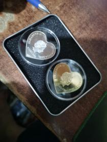 2016年情人节永恒之心收藏币 520最佳礼物 心型5澳元
