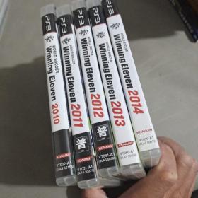 PS3正版游戏,Winning Eleven(2010~2014)五本合卖,有说明书(三本贴了香港行货)