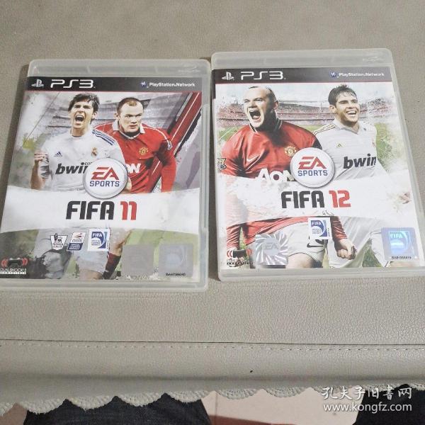 PS3游戏碟。FIFA 11+FIFA 12。两本合卖