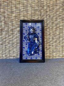托塔李天王 高浮雕瓷板画挂屏