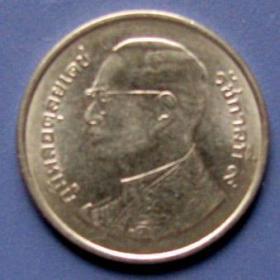 泰国硬币1泰铢,外国早期钱币!外国硬币!照片反光,实物更美