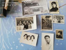 50到60年代老照片8张  合影  飞行员  女兵