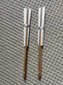 日本空白扇面。空白扇子。老扇子。老扇面。两面空白。日本回流扇子。两把共180。