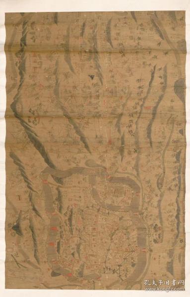 古地图1853-1856 清军围攻金陵城图 咸丰三年至咸丰六年间。纸本大小139.23*217.77厘米。宣纸艺术微喷复制。