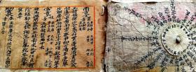 大清康熙元年名人风水手稿本,书法很不错