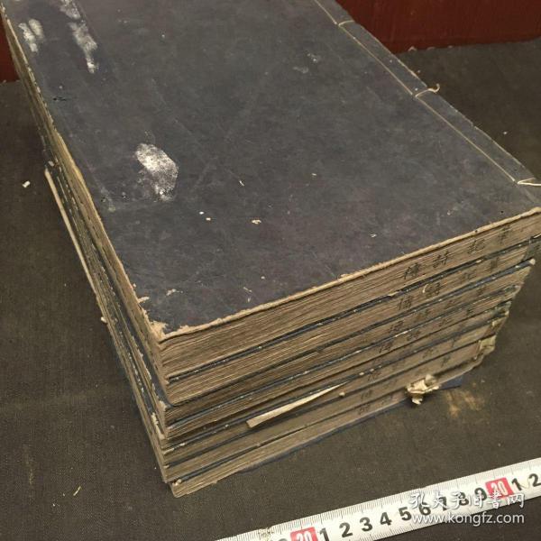 和刻儒学《笔记诗集传》8册16卷全,日本汉学者仲村惕斋著,明和元年出版。江户时期诗经学