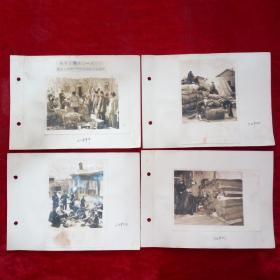 50年代新华社原稿照片由知名摄影师拍摄锦州市军民普遍设立废品箱大搞废品收购老照片