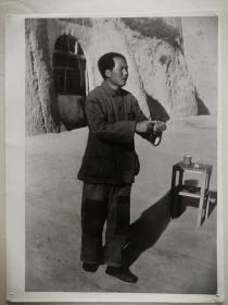 早期毛主席在延安的老照片