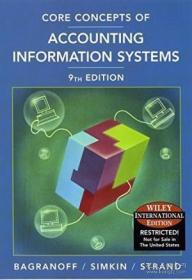 Wie Core Concepts Of Accounting Information Systems /Nancy A