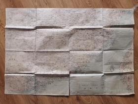民国时期华东南地区地图(100X68厘米)