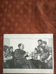 毛主席跟解放军在一起