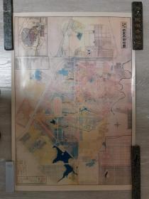 新京市街地图(据伪满洲国康德七年地图彩色复制)