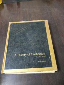 A HISTORY OF CIVILIZATION, VOLUME ONE, THIRD EDITION(1967年精装16开,大量精美插图)