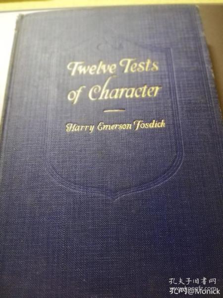 民国燕京大学图书馆藏书,带藏书票Twelve Tests of Characters