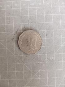 外国银币菲律宾二比索满五十元包邮