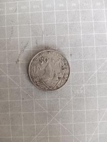外国硬币波利尼西亚50法,满五十元包邮