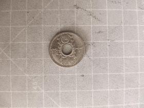 外国硬币日本昭和九年十钱,满五十元包邮