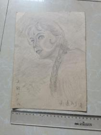 上尉的女儿 手绘老素描画