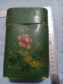 50年代抗美援朝时期,和平万岁纸制茶筒茶叶罐广告盒