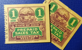 美国古典税票, 俄亥俄州早期预付营业税 , 1分,1枚价
