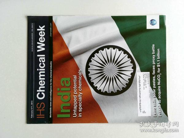 IHS Chemical Week Magazine 2013年2月4-11 英文原版化学周刊杂志