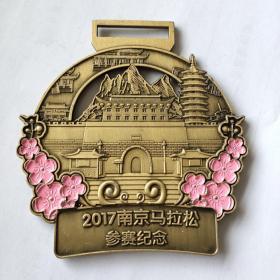 南京马拉松参赛纪念章 85ⅹ80毫米
