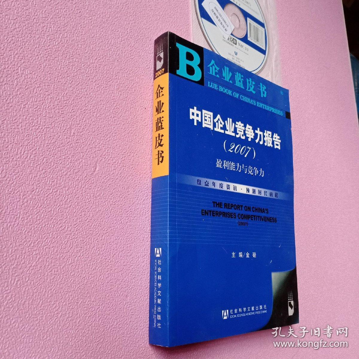 中国企业竞争力报告(2007):盈利能力与竞争力