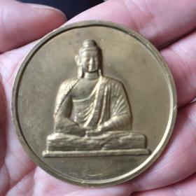 云岗大佛纪念铜章 直径5厘米