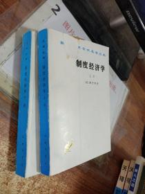 制度经济学(上下册)两本  书边有污渍