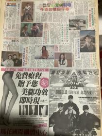 刘德华 李绮红 黎姿 李惠敏 古巨基 陈德容 彩页90年代报纸一张 4开