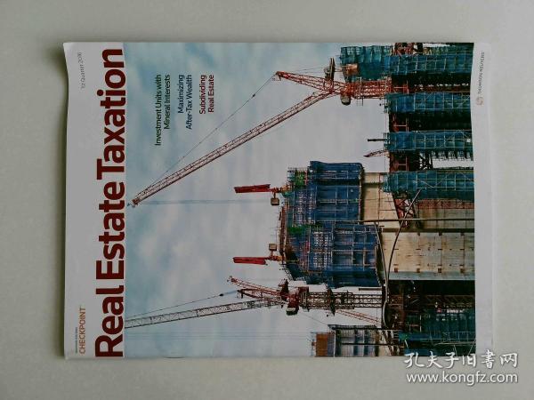 Real Estate Taxation 2016 VOL.43 NO.2  外文原版期刊可做样板间道具摄影道具杂志