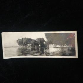民国时期•杭州西湖原版照片•平湖秋月•尺寸:15x5.5厘米