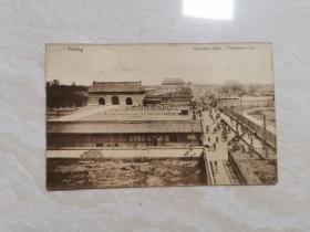 清末 民国时期的【 北京老建筑 明信片】   五张合售  品相如图