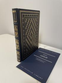 Aesop fables 《伊索寓言》 franklin library 1984年出版 真皮精装 限量版收藏版 世界伟大作家系列丛书之一