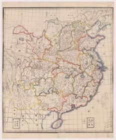 古地图1856-1876 中国河间府:天主堂 县、州、府地图。纸本大小85.74*103.04厘米。宣纸艺术微喷复制。