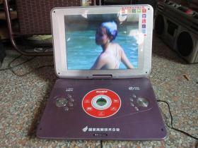 金正14寸便携式DVD 高清DVD播放机
