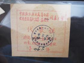中国新民主主义青年团云南省属机关第一届团员代表大会代表证共青团