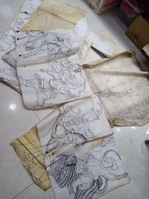 民国人物画稿 20张合售,大概尺寸78 x52和72 x 33,整体尺寸不一